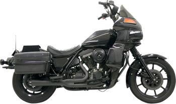 Bassani - Road Rage 2-into-1 Exhaust Systems Black, Short W/ Floorboards - Fits  '84-'94, '99-'00 FXR