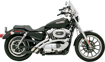 Bassani - Radial Sweeper Exhausts - Chrome fits '04-'06 XL