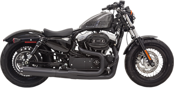 Bassani - Road Rage II B1 Power 2-into-1 Systems - Black fits '14-'16 XL (see desc.)