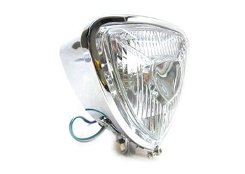 "Chopper & Bobber Triangle 5-1/4"" Headlight - Chrome"