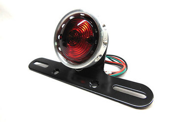 Motorcycle Shooter Taillight Polished Standard Bulb Bobber Style