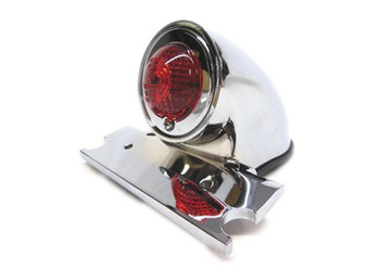 Motorcycle Taillight Chrome Sparto Style 12V