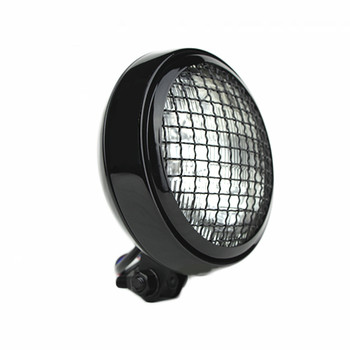 "Slim Caged 5"" Black Headlight - Clear Lens"