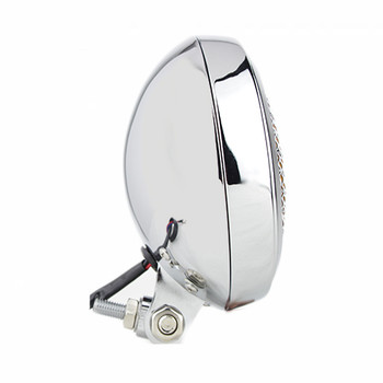 "Slim Caged 5"" Chrome Headlight - Clear Lens"