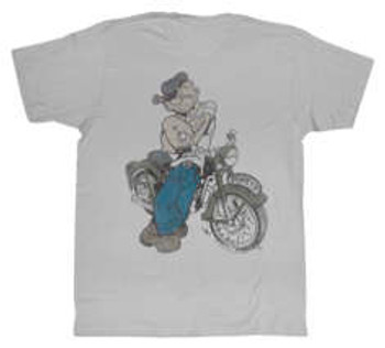 Evel Knievel - Popeye Cycle Tee - Silver