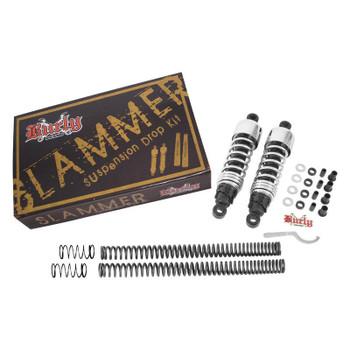 Burly Brand - Chrome Slammer Suspension Lowering Kit - fits '06-'15 Dyna