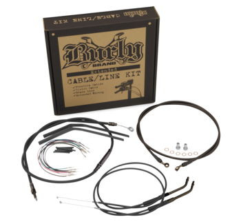 "Burly Brand - 12"" T-Bar Cable/ Brake Line Extension Kit - '12-'15 FXD"