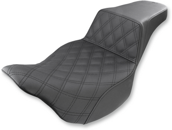 Saddlemen - Step-Up Front Diamond Stitched Seat - fits '08-'17 FLHT/FLHR/FLTR/FLHX