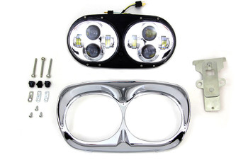 V-Twin - Dual LED Headlamp - fits '04-'13 FLTR