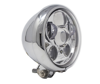 "Motorcycle Supply Co. - LED 5 3/4"" Headlight - Chrome"