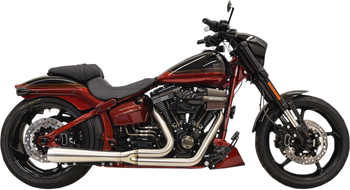 Bassani - Road Rage III Short 2-into-1 Exhaust System - fits Harley '07-'17 FXS