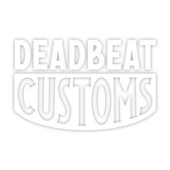 Deadbeat Customs - Bold Vinyl Decal - White
