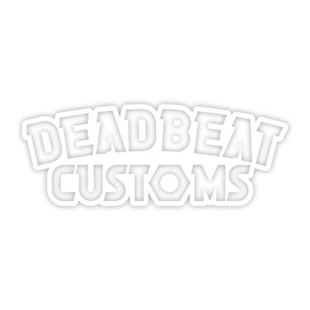 Deadbeat Customs - Nut Vinyl Decal - White
