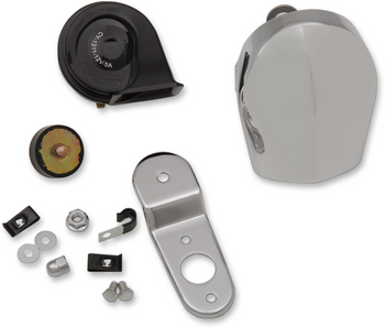 Drag Specialties - Electrical Horn Kit - fits Harley Dyna, Softail, Touring, and Sportster
