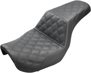Saddlemen - Step Up Full Diamond Stitched Seat - fits '06-'17 FLD/FXD/FXDWG