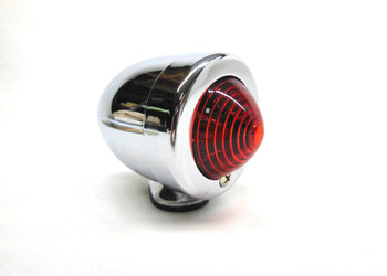 Chrome Bullet Tail Light Marker Light with Red Lens