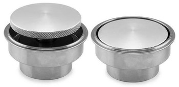 Chrome Pop-Up Style Gas Cap with Weld-In Style Bung