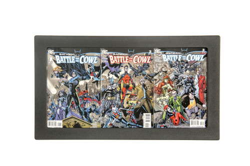 Three Book Connecting Cover Comic Book frame by The Collectors Resource