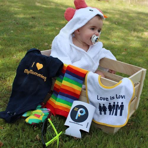 Lesbian Moms & Lesbian Parents Baby Shower Crate