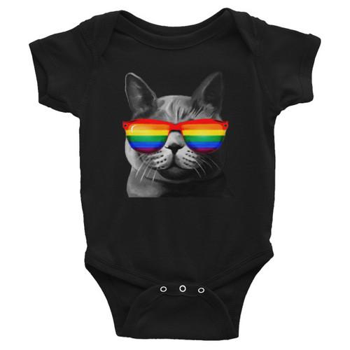 Cool Cat Baby Onesie - LGBT Baby Apparel