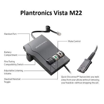 plantronics vista m22 user manual expert user guide u2022 rh manualguidestudio today Plantronics M12 Vista Headset Amplifier Plantronics Telephone Headsets
