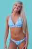 Gingham Skies | Triangle Bikini Top