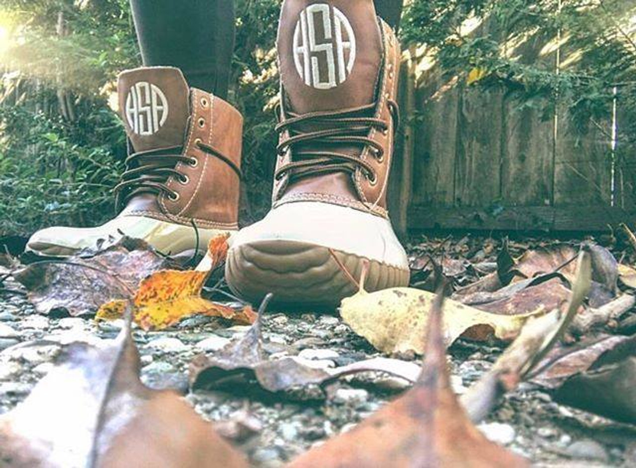 Brand new Monogrammed Duck Boots - Ginny Marie's SF78