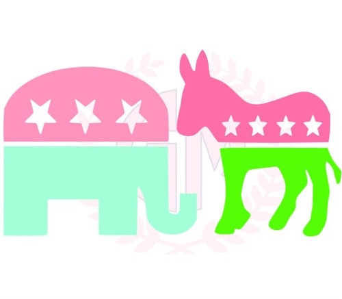 """4"""" Political Party Decal"""
