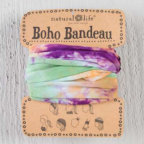 Natural Life | Orange, Green, & Purple Tie-Dye Boho Bandeau