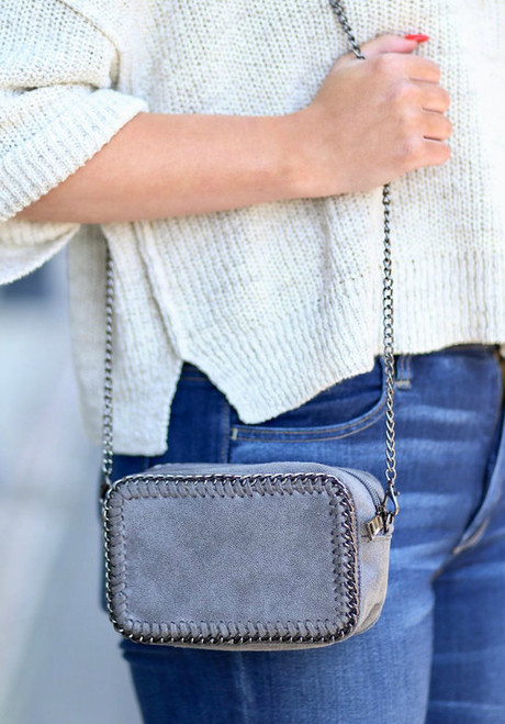 The Meredith | Grey Crossbody