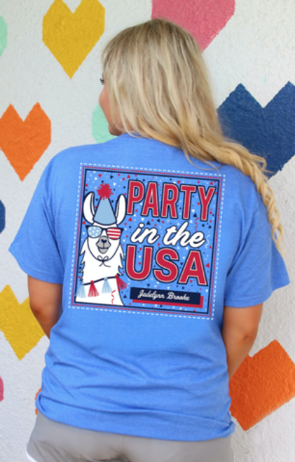 Jadelynn Brooke | Party in the USA | Flo Blue Llama Tee