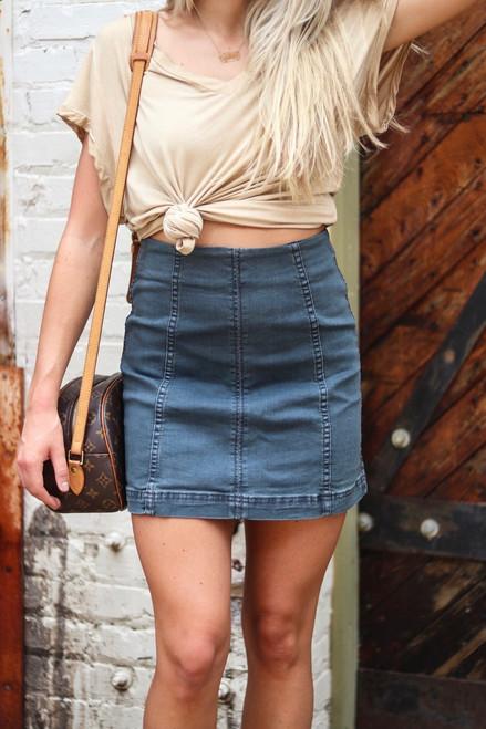 My Time to Shine   Denim Skirt