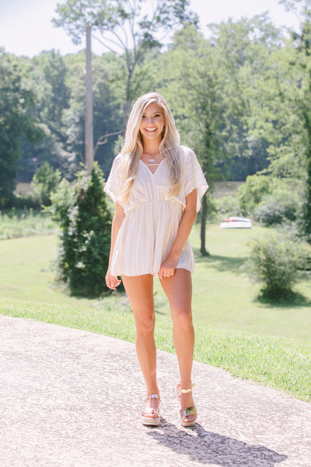 Live in the Sunshine | Striped Romper
