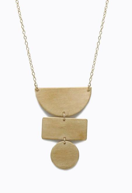 ABLE   Totem Necklace   Brass