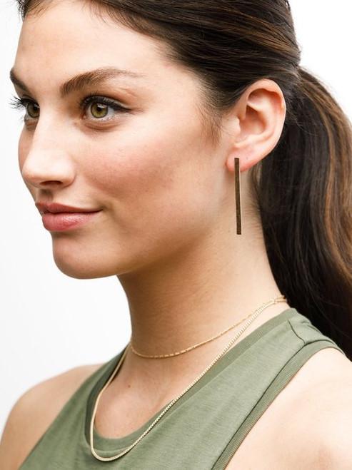 ABLE   Fin Earrings   Gold