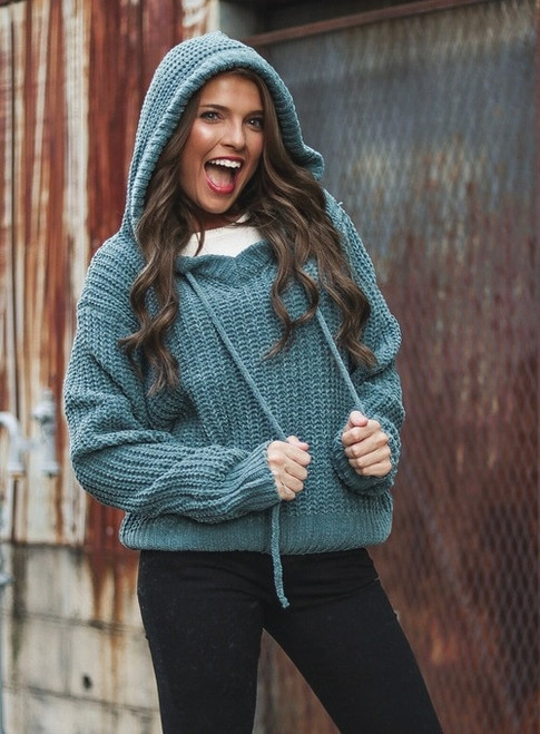 Better Now | Teal Pullover