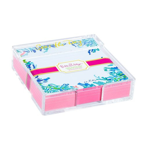 Lilly Pulitzer | Acrylic Holder and Loose Notes | Wade and Sea
