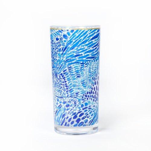 Lilly Pulitzer | Acrylic Hi-Ball Glass Set | Blue Tang Gang