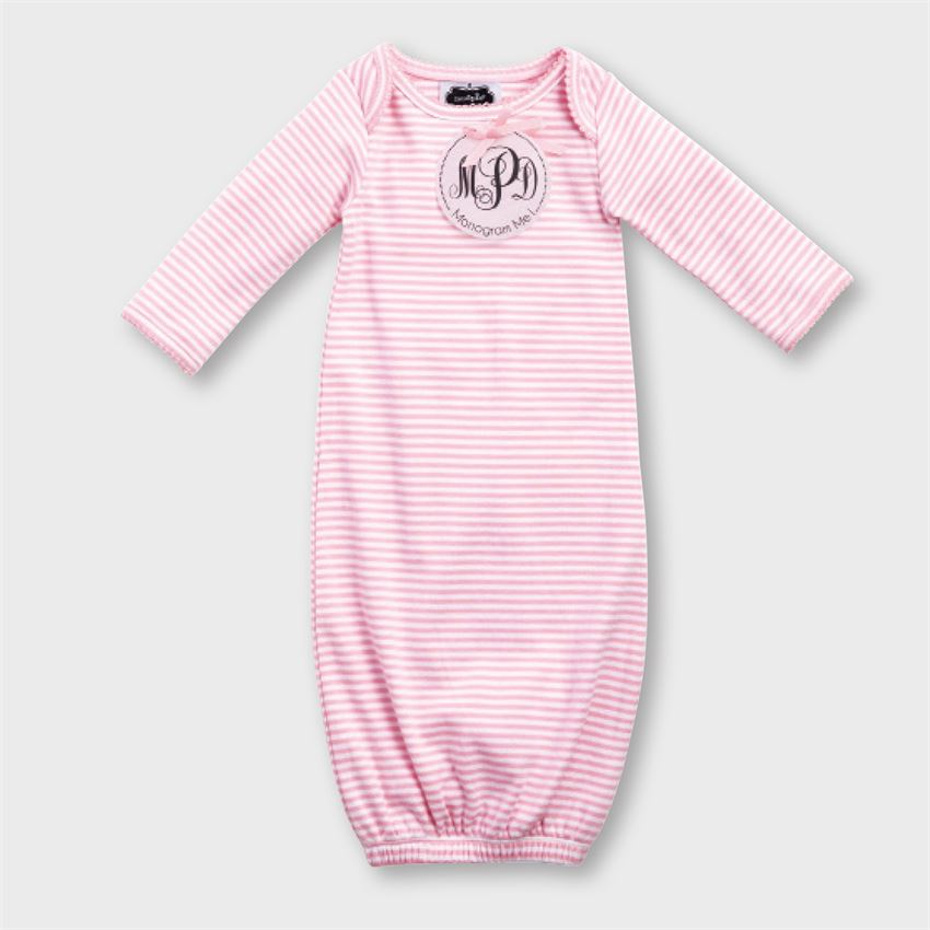 Monogrammed Pink Sleep Gown | Mud Pie - Ginny Marie\'s
