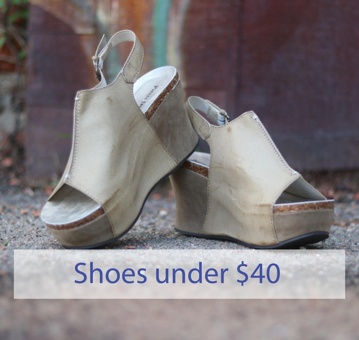 Shoes under 40