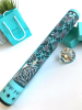 Diamond hand guard in Tiffany Blue and Crushed Silver