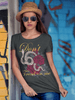 Lady Gadsden Don't Tread on Me Tee in Heather Charcoal
