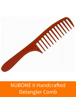 NuBone II Wide Tooth, Hand Crafted Wide Detangler Comb