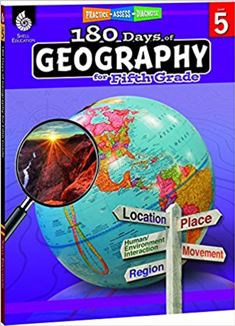 180 Days of Geography for Fifth Grade Front Cover