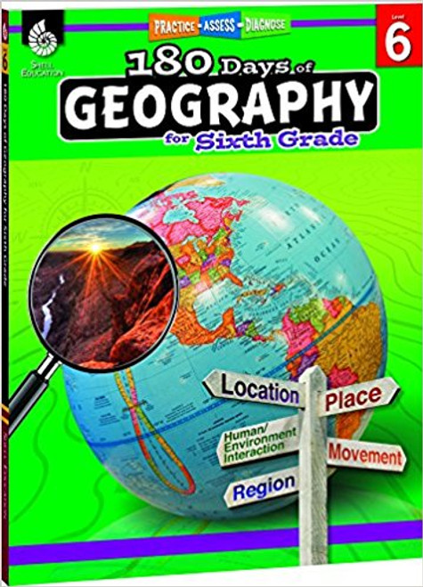180 Days of Geography for Sixth Grade Front Cover